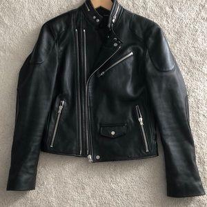 Lamb skin leather moto jacket. Pristine.